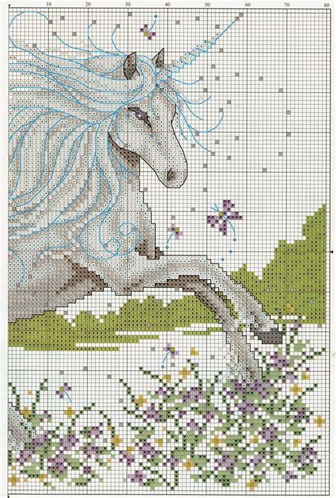 cenefas de unicornio graficos punto de cruz gratis unicornio bordados