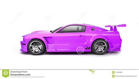 cartoon sports car side dynamic purple sport car side view stock illustration