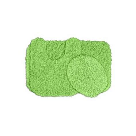 Green Bathroom Rugs by Garland Rug Jazz Lime Green 21 In X 34 In Washable Bathroom 3 Rug Set Ben 3pc 12 The
