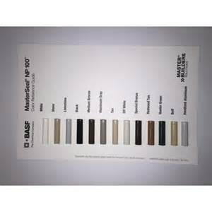 np1 color chart masterseal np 100 20oz coastal construction products
