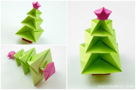 Origami Tree Decorations - origami tree tutorial paper kawaii