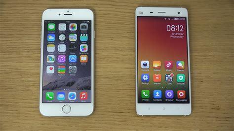 Xiomi Redmi 4i iphone 6 vs xiaomi mi4 review 4k