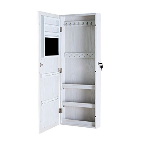 door mounted jewelry armoire modern white wall door mounted full length mirror