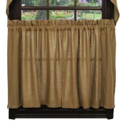 36 inch cafe curtains deluxe burlap 36 inch tiers by olivia s heartland the