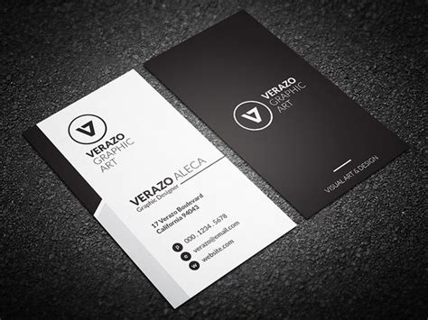 horizontal business card size template simple corporate business card vertical design