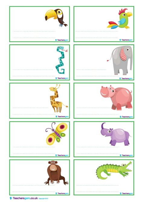 printable jungle labels free jungle animal labels in three different colours