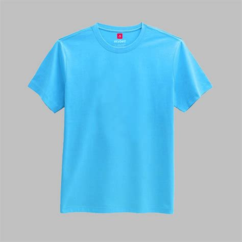 light blue shirt plain light blue colored neck tshirt t shirt