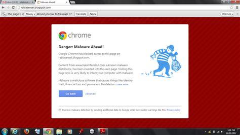 chrome kena virus rabia sensei cara hilangkan malware dari blog