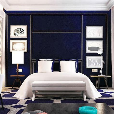 modern blue bedroom modern inteiror design blending classic and modern ideas
