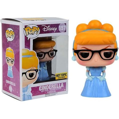 Funko Pop Disney Nerdy Glasses disney princess funko pop disney cinderella vinyl figure