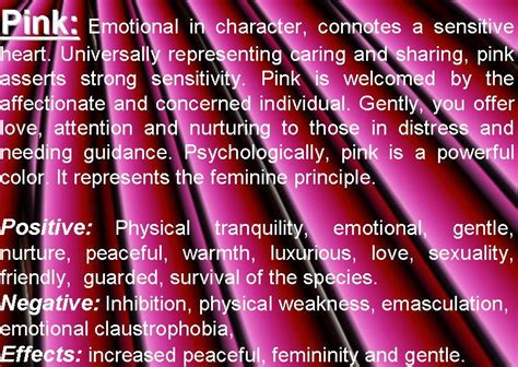 meaning of pink pink meaning pink color psychology