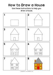 how to draw a 3d house how to draw a house sheet sb12162 sparklebox