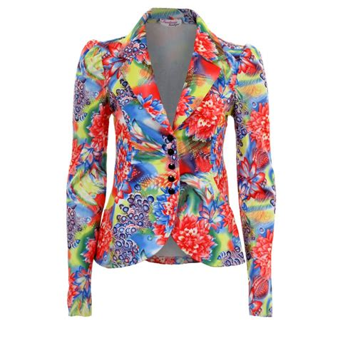 colorful plus size blazers floral blazer womens