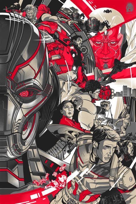 Avenger Age Of Ultron Ori Set 4 age of ultron official poster print set on