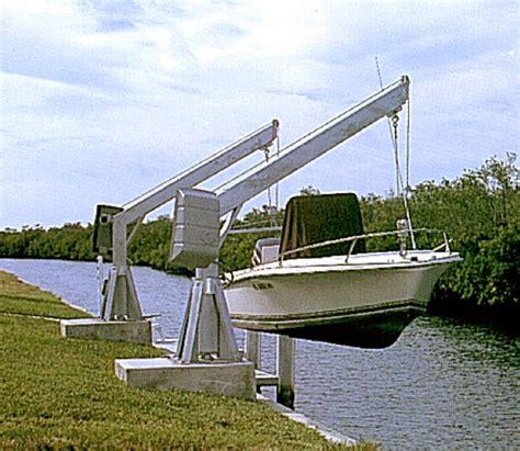 aluminium bootlift aquamore davit bootlift