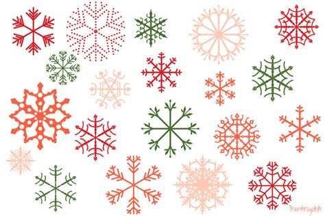 snowflake pattern clipart red christmas snowflakes clipart set pink snowflake clip