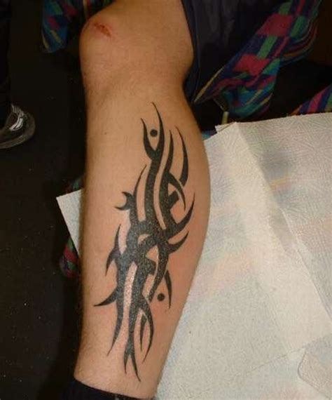 tribal calf tattoos for men tribal cool leg designs for