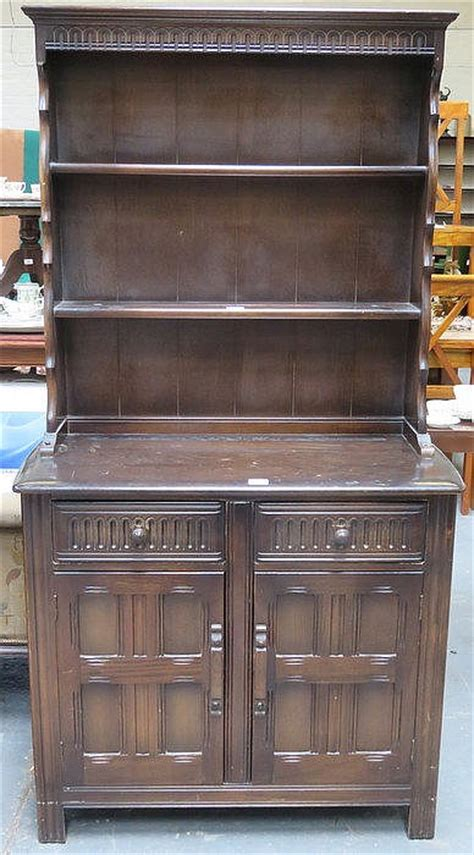 Fashioned Kitchen Dressers by Oak Priory Style Small Kitchen Dresser With Plate Rack