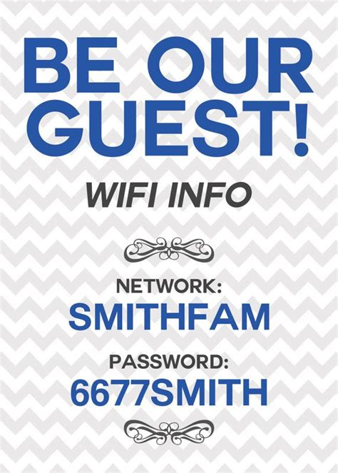 Wifi Password Printable Sign Unique Home By Designedbykriddo 5 00 Printable Password Sheets Wifi Sign Template