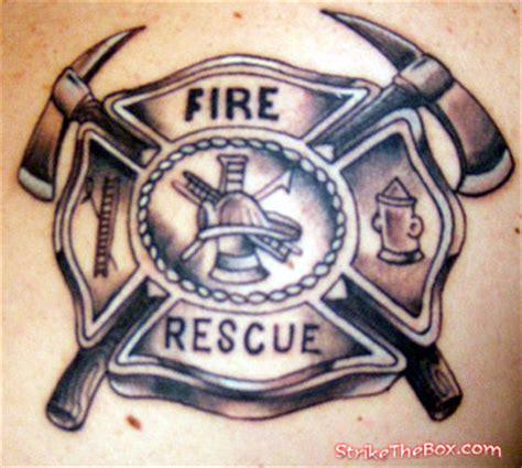 fire department tattoos maltese cross