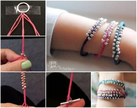 wonderful diy simple braided beaded bracelet