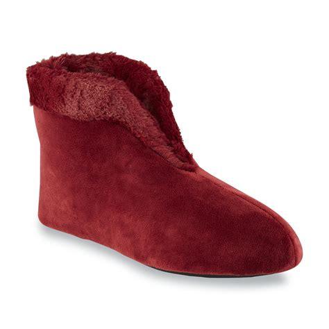 womens ruby slippers dearfoams s bootie slipper shop your way