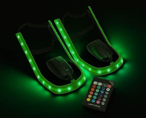 Lights For Shoes by Light Kicks Led Shoe Light System Thinkgeek