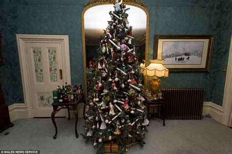 big christmas tree in small room put a tree in all 52 rooms of their country mansion daily mail