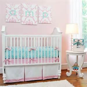 damask baby bedding aqua damask 3 crib