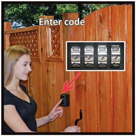 backyard gate lock fence door lock royalty free stock photo