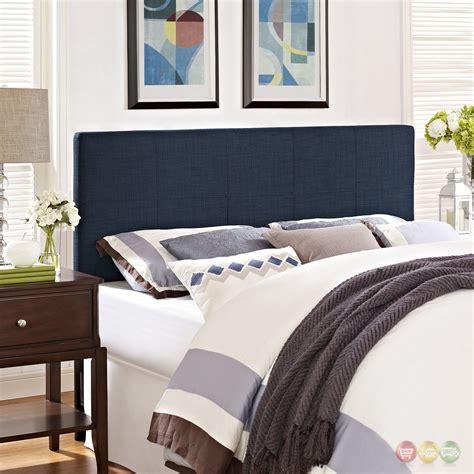 padded full headboard oliver modern fabric upholstered full headboard navy
