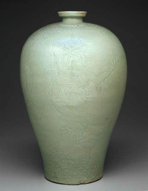 prunus vase with carved korean goryeo dynasty