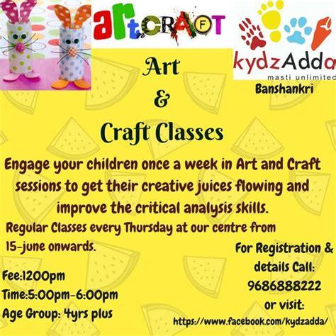 craft classes for craft classes at kydz adda bangalore