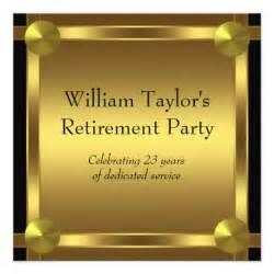 Retirement Announcement Templates by Black And Gold Mans Retirement 5 25x5 25