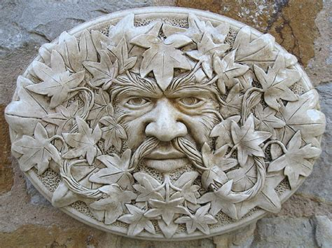 Oval Green Man Wall Plaque Garden Ornaments Buy Green Garden Wall Plaque