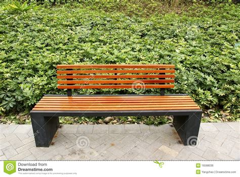 bench in the park bench in park royalty free stock image image 16588036