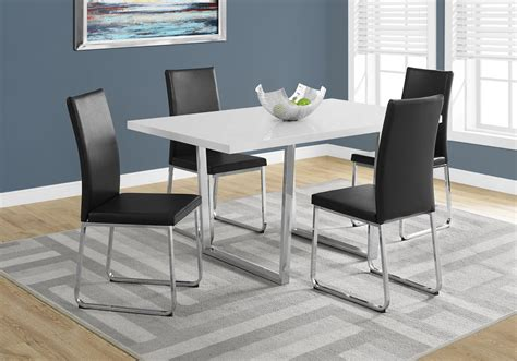 36 x 60 table dining table 36 quot x 60 quot white glossy chrome metal