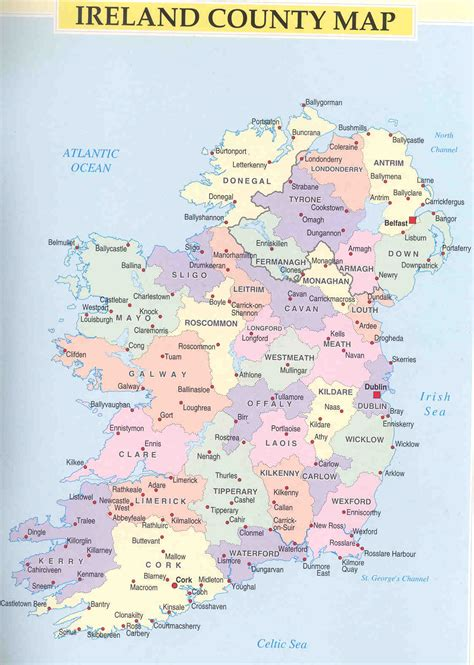 printable map ireland counties towns maps of ireland cavan and other wilton lands