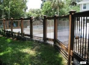 iron and wood fence wrought iron gates fences railing wrought bed wood and iron fencing