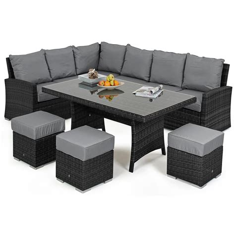 Rattan Corner Sofa Set by Maze Rattan Kingston Corner Dining Rattan Set