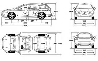 Volvo Xc60 Measurements 2012 Volvo V60 Dimensions Photo 13