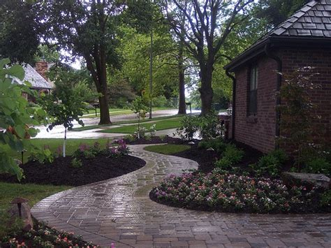 landscaping omaha ne front walkway and landscaping in omaha nebraska residential landscaping