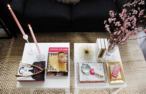 how to style a coffee table how to style a coffee table the everygirl