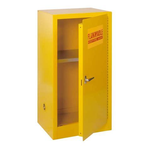 Yellow Metal Storage Cabinet Edsal 35 In H X 23 In W X 18 In D Steel Freestanding Flammable Liquid Safety Single Door