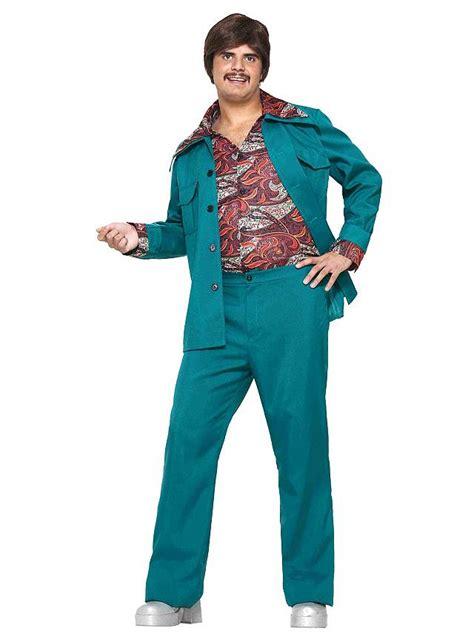 Blue The Leisure S M L Dress 43048 70s Leisure Suit Turquoise Maskworld