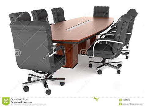 office table and chairs conference table and office chairs stock illustration