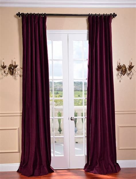 majestic plum vintage cotton velvet curtain traditional