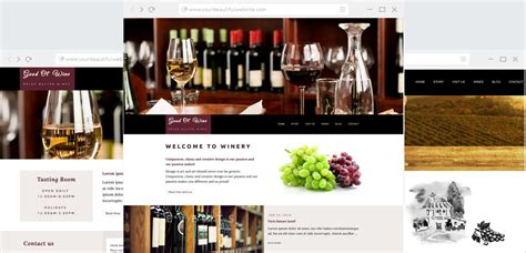 Good Ol Wine Wine And Winery Html Template Anariel Design Free Wine Website Templates