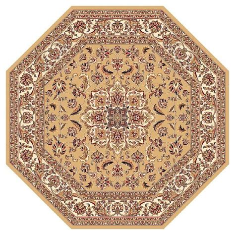 Kas Rugs Classic Medallion Beige 7 Ft 7 In X 7 Ft 7 In 7 Ft Rug