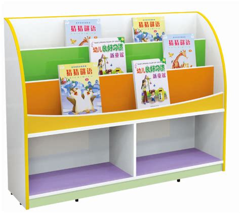daycare furniture wood book shelf kindergarten book